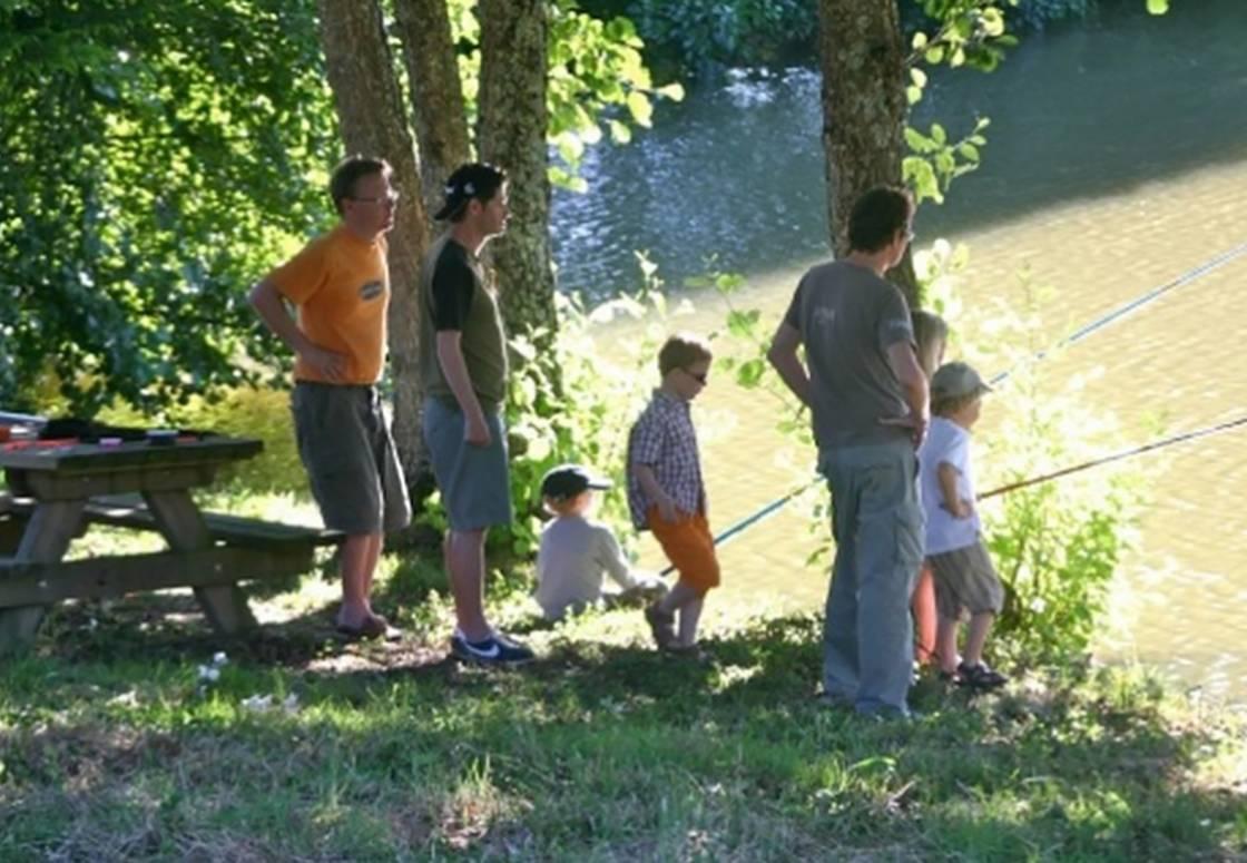 La pêche dans l'étang