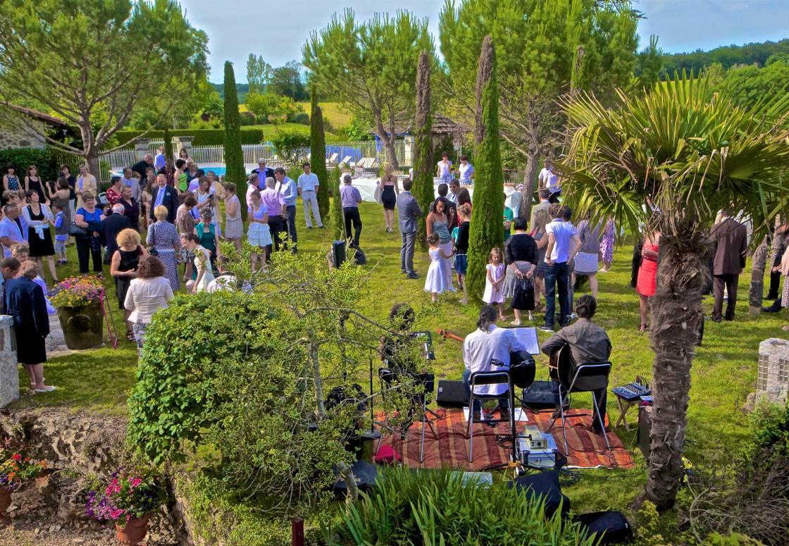 Réception dans le Jardin toscan